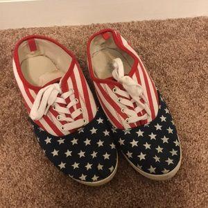 Charlotte Russe Patriotic sneakers